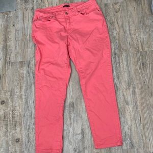 Eileen Fisher Cropped Jeans Coral Size 12